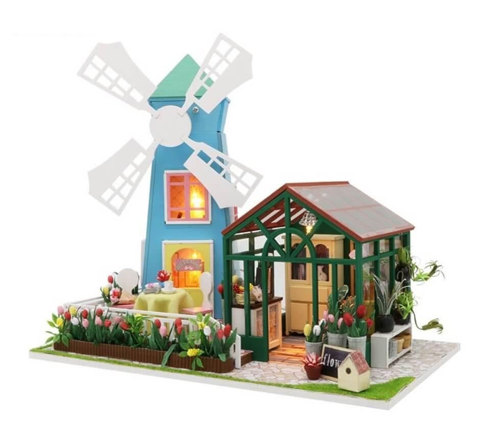 Rumbox DIY-Dom Amsterdam Windmill Flower House 1