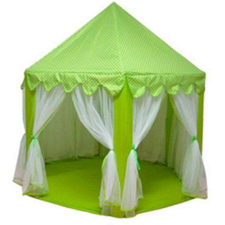 Игровой Домик Палатка Шатер Для Детей «Принцесса» (Зеленая)