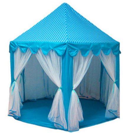 Игровой Домик Палатка Шатер Для Детей «Принцесса» (Голубой)
