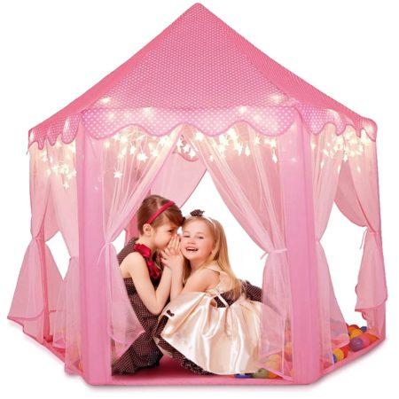 Игровой Домик Палатка Шатер Для Детей «Принцесса» (Розовый)