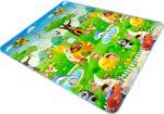 Двухсторонний Игровой Коврик «Веселая Ферма и Океан» 200х180×0,5 см