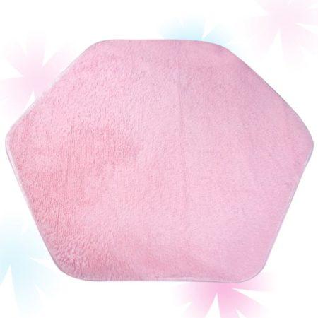 Шестигранный Плюшевый Коврик Для Игровой Палатки (Розовый)