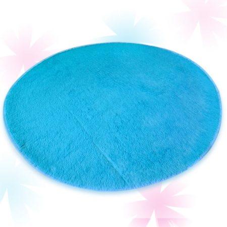 Круглый Плюшевый Коврик Для Игровой Палатки (Голубой)