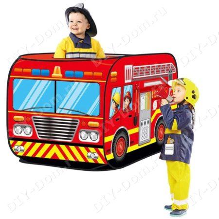 Игровой Домик Палатка Для Детей «Пожарная Машина»